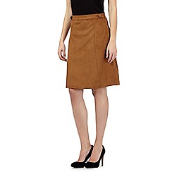 Principles by Ben de Lisi - Tan suedette skirt