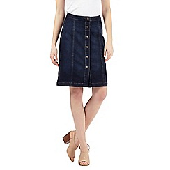 Principles by Ben de Lisi - Dark blue button through skirt