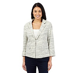 Principles Petite by Ben de Lisi - Grey space dye jacket