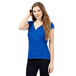 Principles by Ben de Lisi - Bright blue diamond jacquard t-shirt