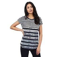 Principles by Ben de Lisi - Navy striped print t-shirt