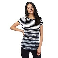 Principles by Ben de Lisi - Navy striped print t-shirt