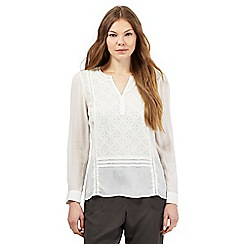Principles by Ben de Lisi - Ivory diamond embroidered top