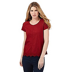 Principles by Ben de Lisi - Red lace trim top