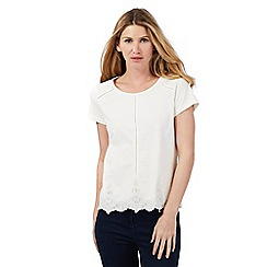 Principles by Ben de Lisi - Cream lace trim top