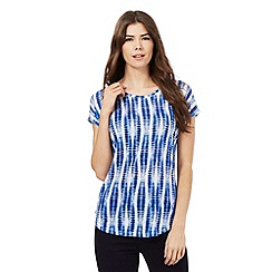 Principles by Ben de Lisi - Blue striped print top