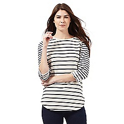 Principles by Ben de Lisi - Cream textured striped top