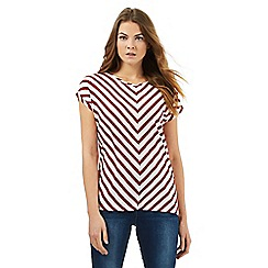 Principles by Ben de Lisi - Red striped chevron top