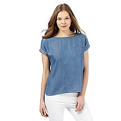 Principles by Ben de Lisi - Blue short-sleeved denim top