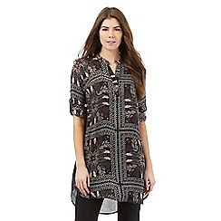Principles by Ben de Lisi - Black tile print long tunic top