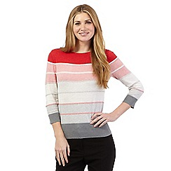 Principles by Ben de Lisi - Dark pink ombre striped jumper
