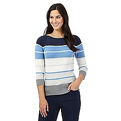 Principles by Ben de Lisi - Blue striped print jumper