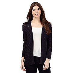 Principles by Ben de Lisi - Navy tape yarn cardigan