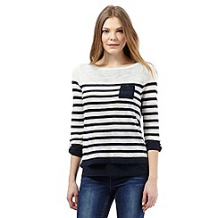 Principles by Ben de Lisi - Navy striped 2-in-1 jumper