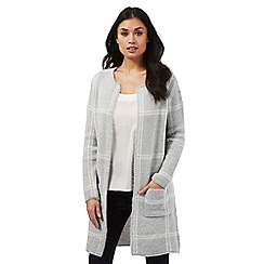 Principles by Ben de Lisi - Grey checked knit coatigan
