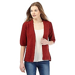 Principles by Ben de Lisi - Red short-sleeved edge to edge cardigan