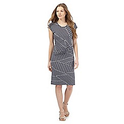 Principles by Ben de Lisi - Navy zig zag print jersey dress