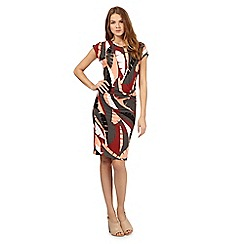 Principles by Ben de Lisi - Pink palm leaf print dress