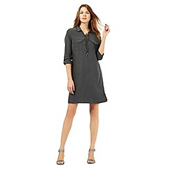 Principles by Ben de Lisi - Khaki eyelet shirt dress