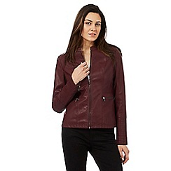 Principles by Ben de Lisi - Dark red biker jacket