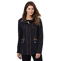 Principles Petite by Ben de Lisi - Navy contrast trim coat