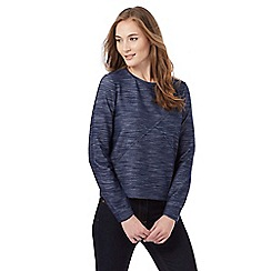 Principles by Ben de Lisi - Blue marl print sweater