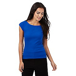 Principles by Ben de Lisi - Blue ribbed top