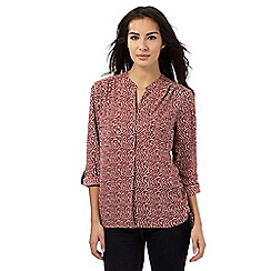 Principles by Ben de Lisi - Red geometric pattern print shirt