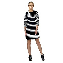 Principles by Ben de Lisi - Navy textured striped dress