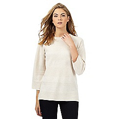Principles Petite by Ben de Lisi - Beige textured striped jumper