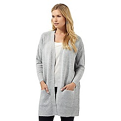 Principles by Ben de Lisi - Grey ribbed cardigan