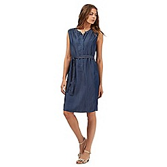 Principles by Ben de Lisi - Dark blue sleeveless denim dress