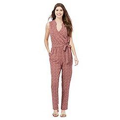 Principles by Ben de Lisi - Red geo print jumpsuit