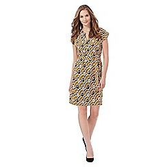 Principles by Ben de Lisi - Yellow retro print dress