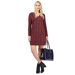 Principles by Ben de Lisi - Plum drop waist tunic dress