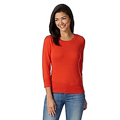 Red Herring - Orange plain cotton jumper