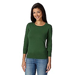 Red Herring - Green plain cotton jumper
