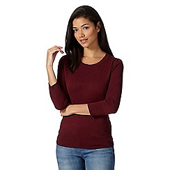Red Herring - Maroon plain cotton jumper