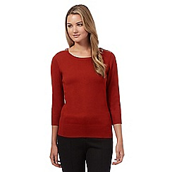 Red Herring - Dark orange zip shoulder jumper