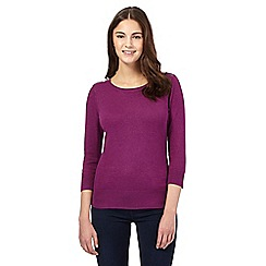 Red Herring - Purple zip shoulder jumper