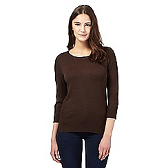 Red Herring - Brown zip shoulder jumper