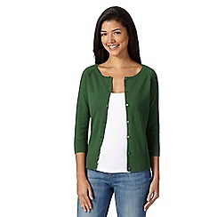 Red Herring - Green plain cotton cardigan