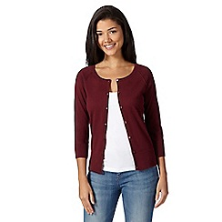 Red Herring - Maroon plain cotton cardigan