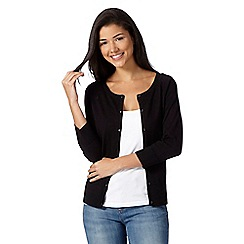 Red Herring - Black plain cotton cardigan