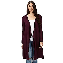 Red Herring - Maroon maxi waterfall cardigan