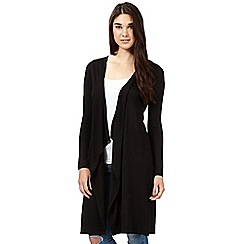 Red Herring - Black maxi waterfall cardigan