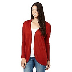 Red Herring - Dark orange drape cardigan