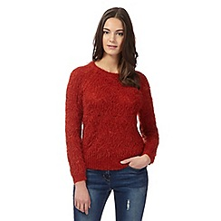Red Herring - Dark orange crew neck jumper