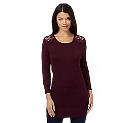 Red Herring - Purple lace detail tunic