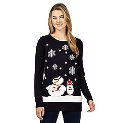 Red Herring - Navy snowman Christmas jumper